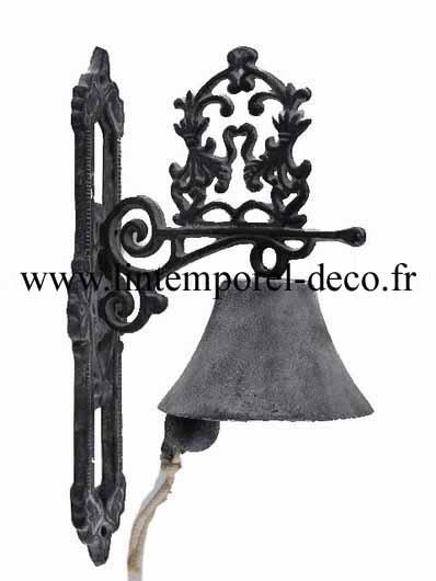 Cloche de porte en fonte grise