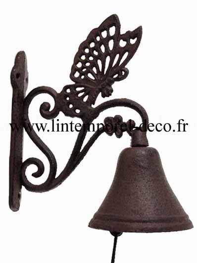 Cloche clochette de porte fonte