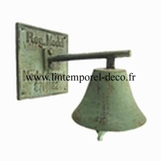 Sonnette de porte fonte vert antique