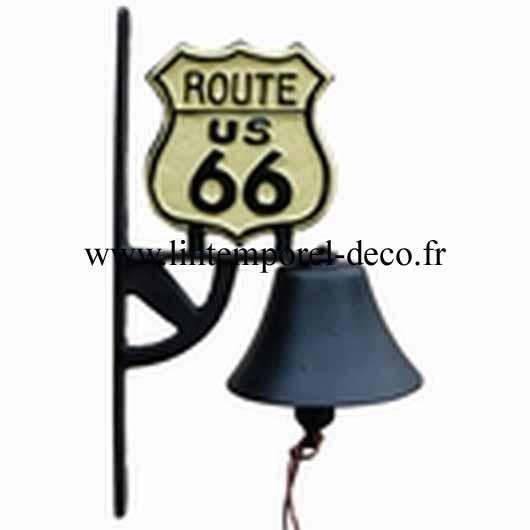 Cloche de maison inscription Route 66