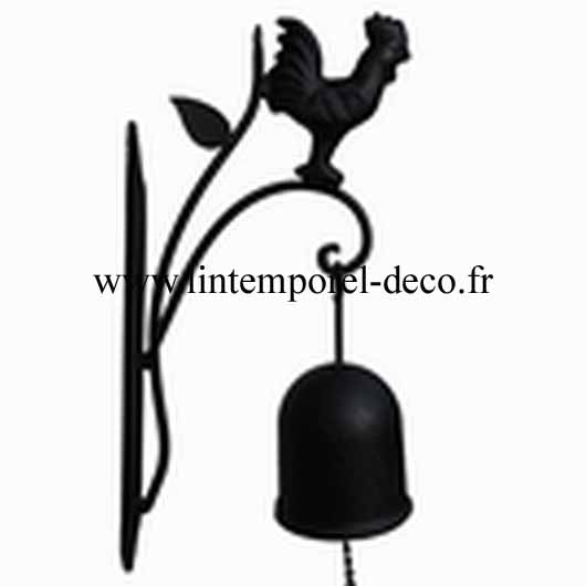 Cloche decoration de porte coq