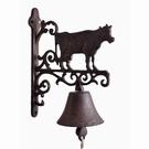 Cloche d'entrée motif vache