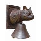 Cloche de porte en fonte chat
