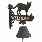 Cloche en fonte motif chat