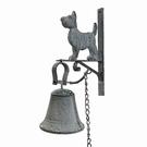 Carillon porte entrée chien gris